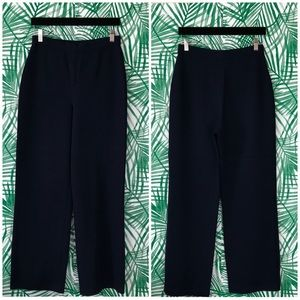 St. John Basics Navy Santana Knit Pants
